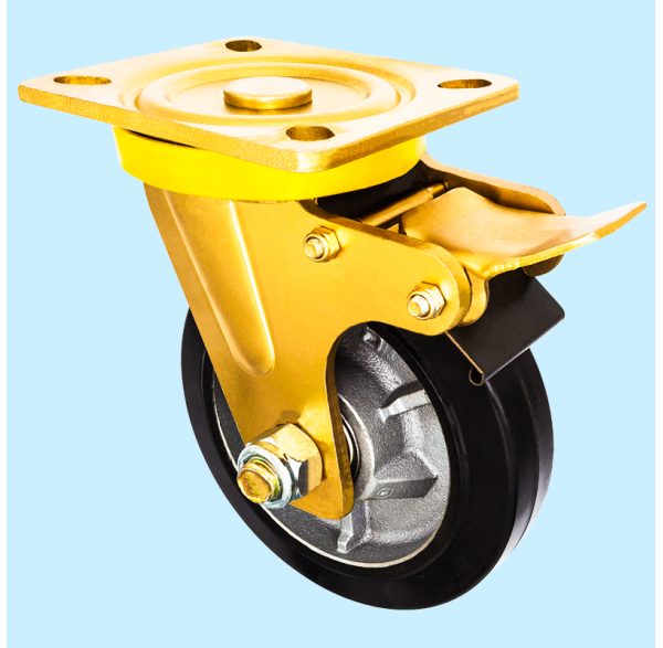 Heavy Duty Series, Rubber Caster Wheel